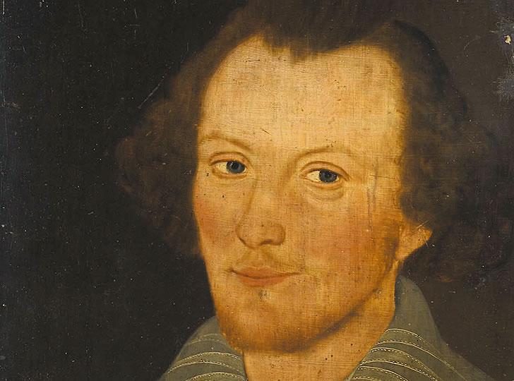 """John Sanders, The Sanders Portrait, 1603. Oil on oak wood panel. 42 cm × 33 cm"""