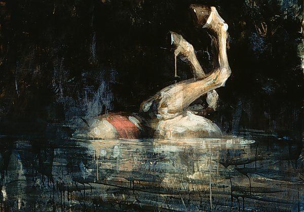 """""""Tony Scherman, La Vendée, 1996-1998. Encaustic on canvas. 152 x 152 cm"""""""