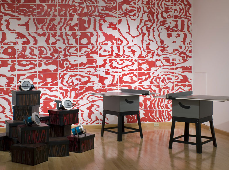 """ Installation view of James Carl: do you know what, a survey 1990-2008s, 2008. Image credit: Isaac Applebaum"""