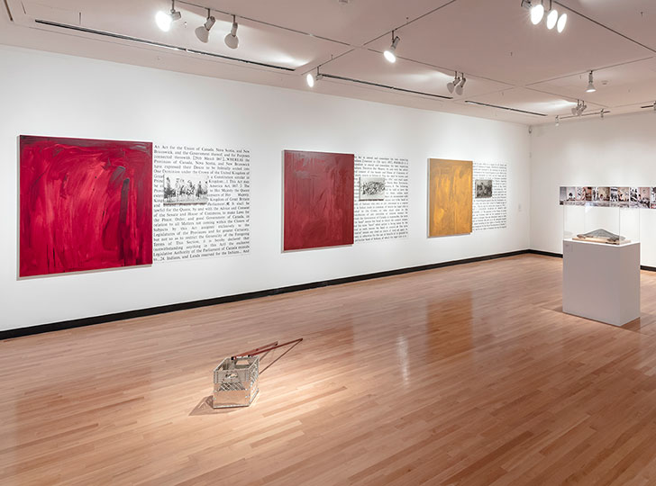 """""""Installation view of Form Follows Fiction: Artists in Toronto, 2016. Image credit: Toni Hafkenscheid."""""""
