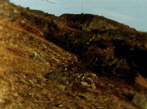 A film still from Michael Snow's film, La Région Centrale.
