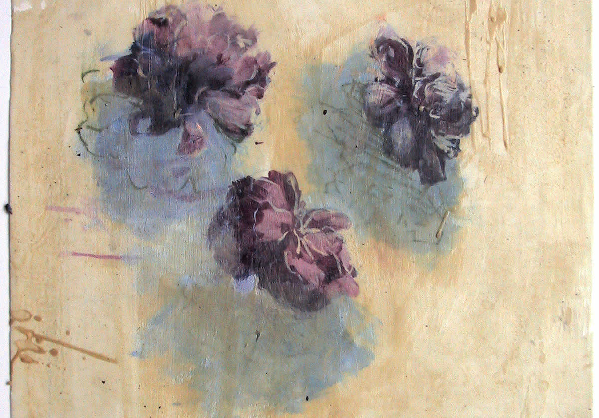 Painting of purple flowers