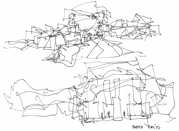 Frank S Drawings Eight Museums By Gehry Art Museum At