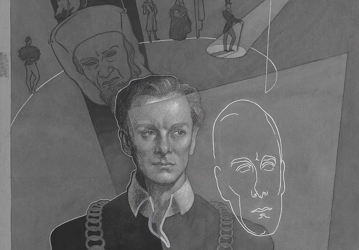 Portrait of actor as Hamlet