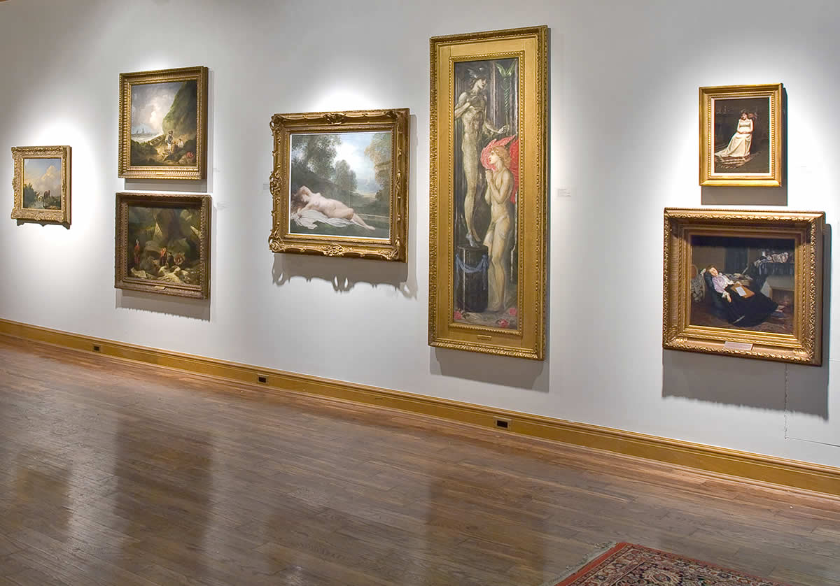 Several 19th century paintings installed at Dry As Dust?