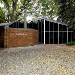 Canada Pavilion in the woods