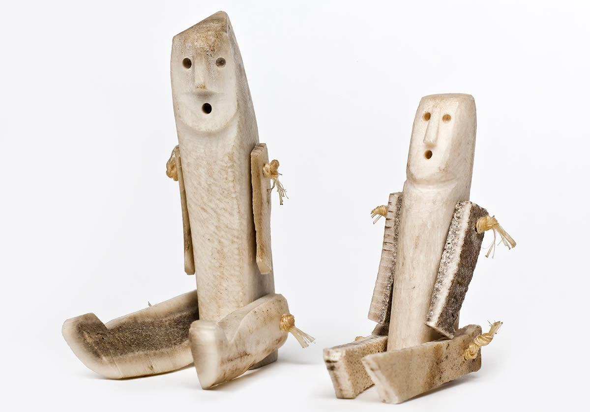 Human figures made from bone