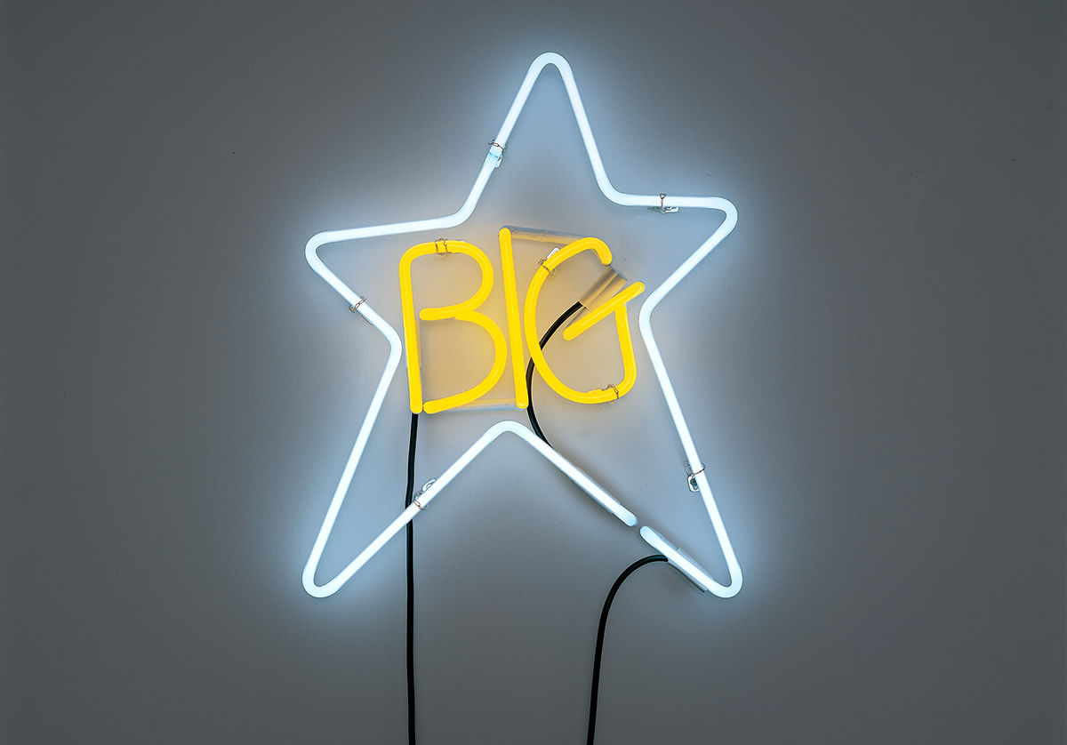 LED star with text that reads