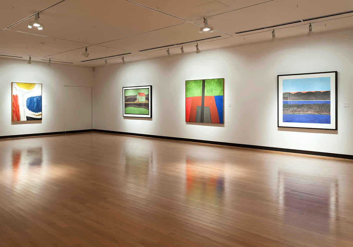 Installation view of Blue Cloud