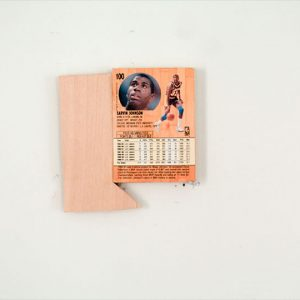 """Carlos Granados-Ocon, Series 01: Item 01: Magic, 2012. Found object on wood. Courtesy of the artist"""