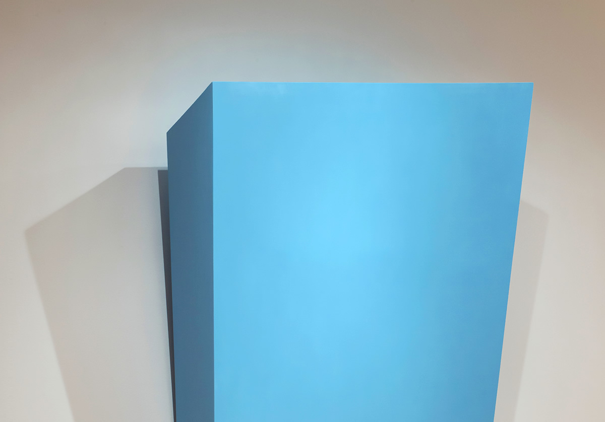 Blue shape coming out of wall