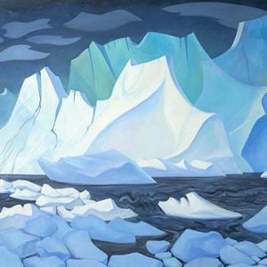Painting of icebergs