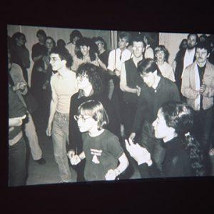 Vintage photo of people dancing