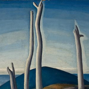 """Lawren Harris, Autumn, Kempenfelt Bay, Lake Simcoe, c. 1917. Oil on canvas. 98 x 110 cm. University College Art Collection, gift of the artist, 1933"""