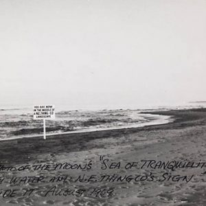 Photo of beach with text over it