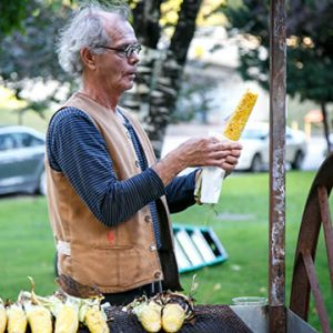 """Ron Benner's Cuitlacoche Corn Roast"""