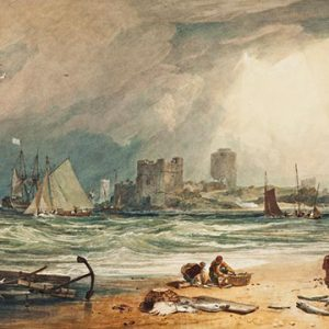 """Joseph Turner, Pembroke Castle: Clearing up of a Thunderstorm, 1806. Watercolour on paper. 67 x 101 cm. Gift of Mrs Augustine FitzGerald 1932"""