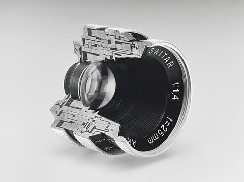 Fragment of camera lens
