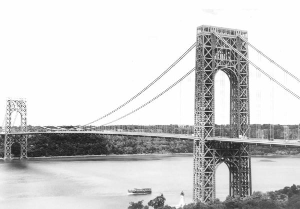 """The George Washington Bridge. Courtesy of Heinz Isler"""