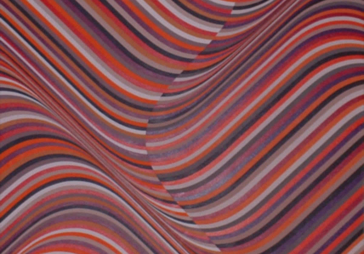 Distorted colored stripes