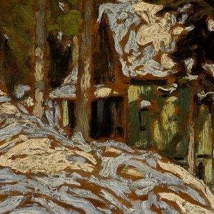Abstract painting of Algonquin Park Cottage