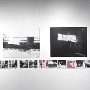 photos of drawings on a wall taken from an exhibition