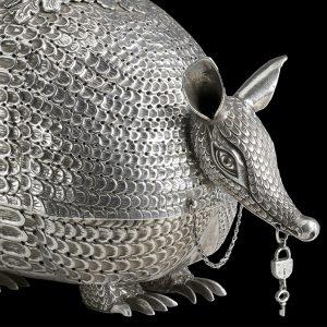 """""""Nose ornament, 1100-1450. Silver, Chimu. Museo Larco, Lima, Peru"""""""