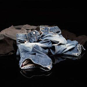 Jean shorts and shirt