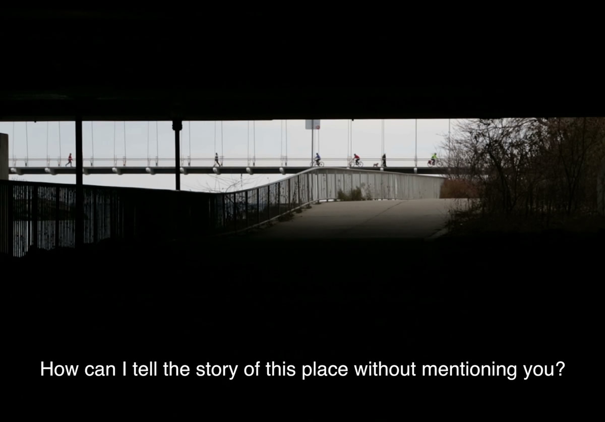 Video still with text reading