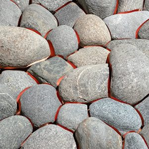 Up close view of pile of rocks