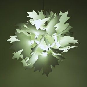 Lamp fixture made of maple leaves