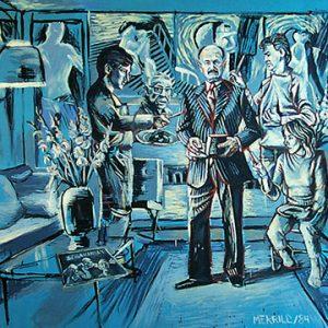 """Michael Merrill, Janusz In his Glory, 1984. Acrylic on canvas. 165 x 162 cm. Collection of Janusz Dukszta"""