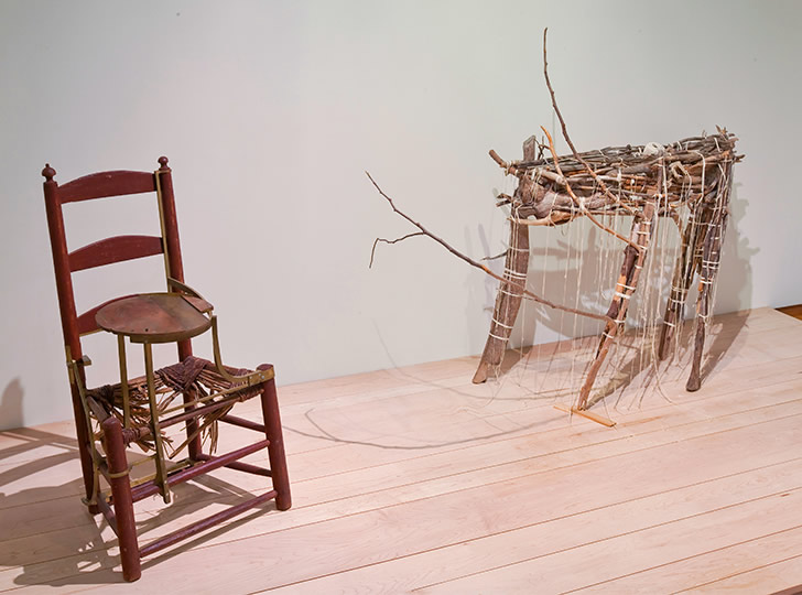"""Installation view of Gord Peteran: Furniture Meets its Maker, 2009. Image credit: Toni Hafkenscheid"""