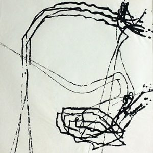 """Richard Gorman, Magnetic Drawing, 1965. Ink on paper. 61 x 46 cm"""