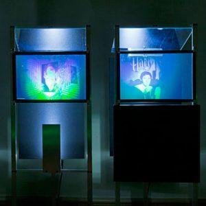 """Installation view of The Next Dimension: Holograms from the Institute of Optical Science, 2011. Image credit: Toni Hafkenscheid"""