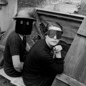 """Lee Miller, Fire mask Hampstead-London-1941. The Lee Miller Archives"""