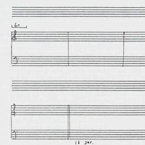 Staff paper with clefs and bars but no notes
