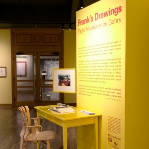 Installation view of Frank's Drawings