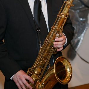 Man playing the saxophone
