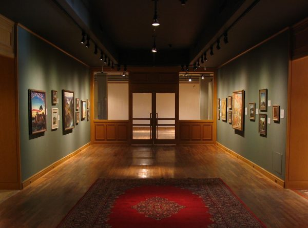"""Installation view of Through tangled brush and dewy brake, 2005"""