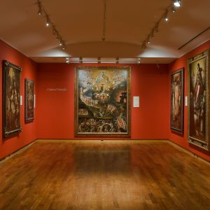 Installation view of The Virgin, Saints and Angels