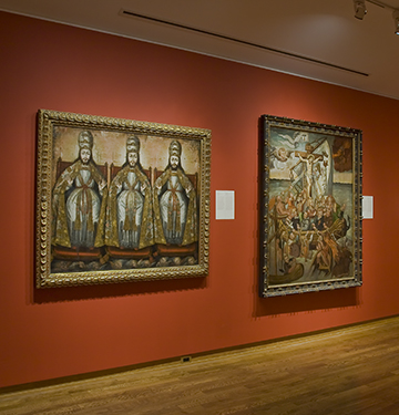 """Installation view of The Virgin, Saints and Angels, 2007. Image credit: Toni Hafkenscheid"""