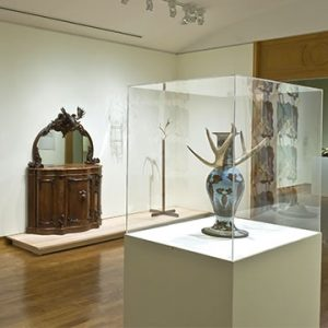 """Image: Installation view of Beaver Tales: Canadian Art and Design, 2008. Image credit: Toni Hafkenscheid"""