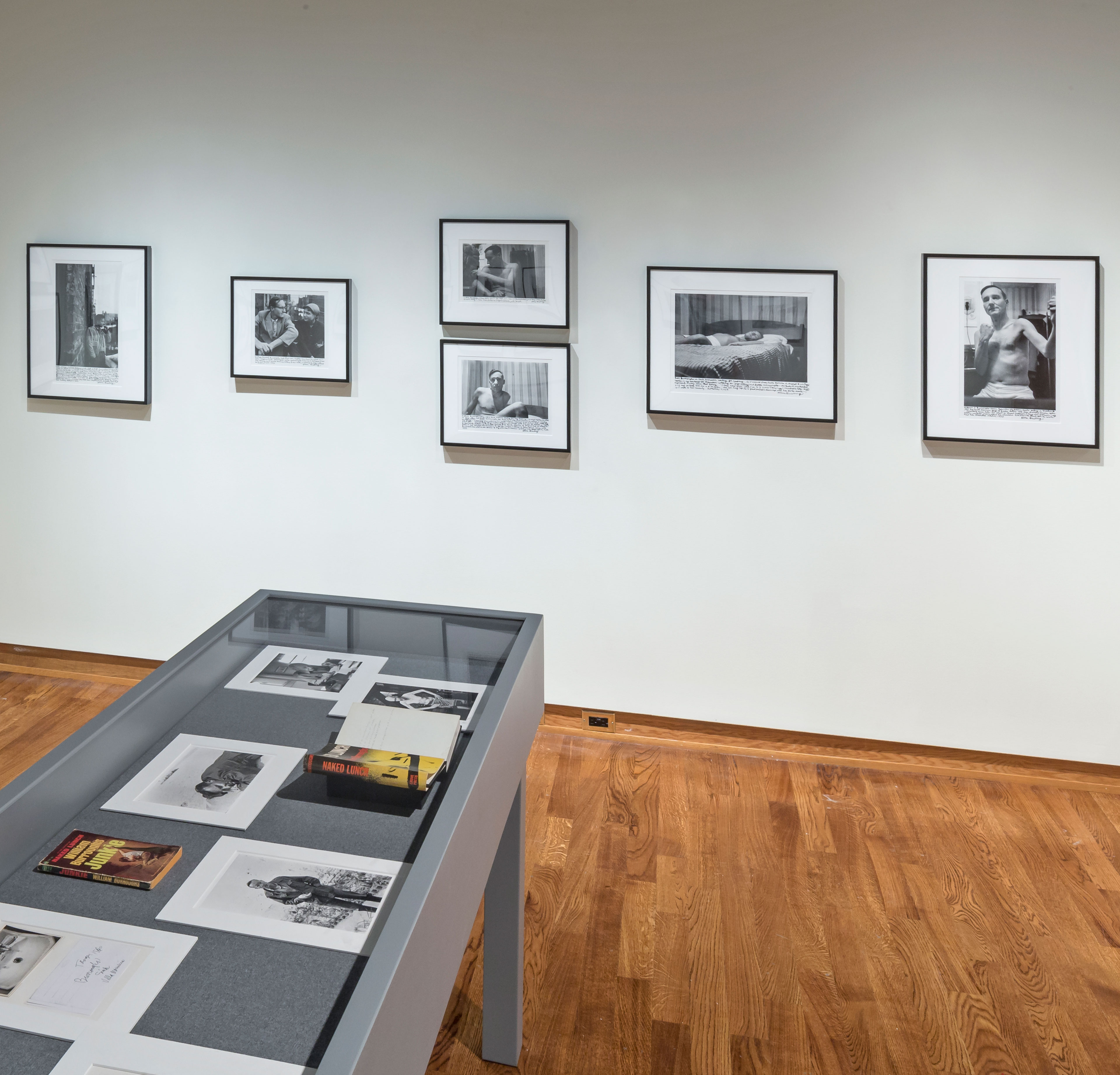 """Installation view of ""We Are Continually Exposed to the Flashbulb of Death"": The Photographs of Allen Ginsberg (1953-1996), 2014. Image credit: Toni Hafkenscheid"""