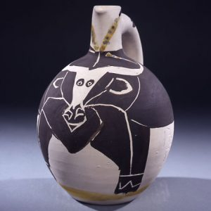 Vase with bull