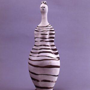 Ceramic woman shaped vase