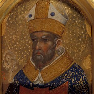 Gold portrait of cardinal