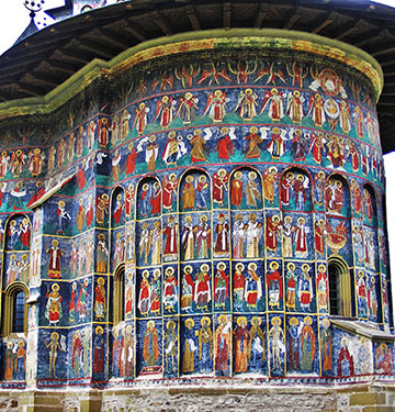 Painted church in Bucovina