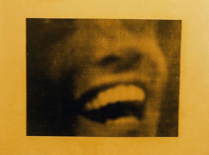 """Stephen Andrews,Safe-8, xerox on latex, 50cm x 40cm, 1993"""