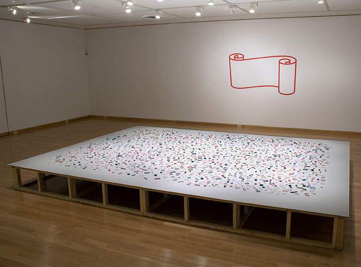 """Installation view of James Carl: do you know what, a survey 1990-2008s, 2008. Image credit: Isaac Applebaum"""